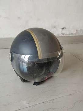 Royal Enfield Matt black and Silver  Helmet