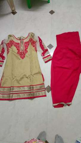 party wear dress with net salvar or dupatta