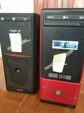jual pc amd a6 seri 7600 2 unit + 1 monitor 23 inch ada hdmi