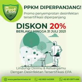Jasa Desinfektan/Desinfeksi/Desinfectant Tersertifikasi