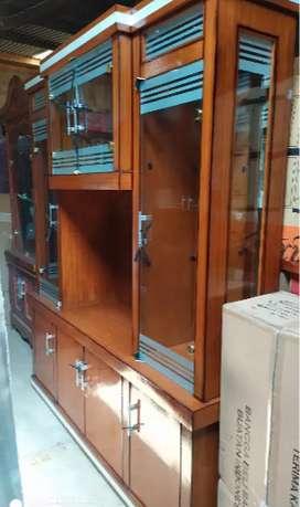 lemari tv cristal skat ruangan 4 pintu minimalis siap cod di temapt