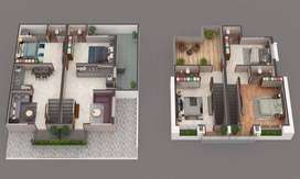 Book 1BHK Row House with just 51,000 token amount at Olpad Sayan Road