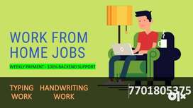 WORK FROM HOME PART AND FULL HANDWRITING AND TYPING TIME JOBS