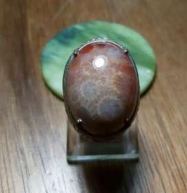 Teratai Orange - Cincin Batu Akik
