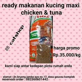 Makanan kucing merek maxi
