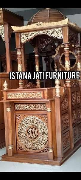 Mimbar masjid material Mimbar kayu jati berkualitas