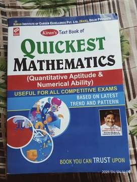 Quickest mathematics Quantitive Apptitude.New one
