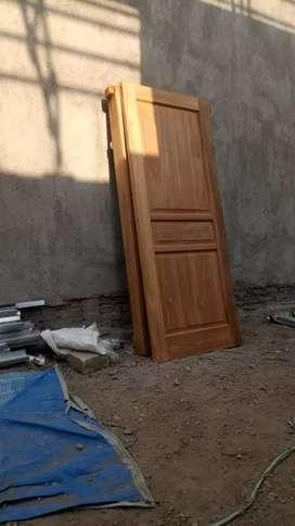 daun pintu jati motif  V