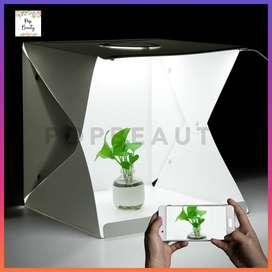 Mini Studio Box Folding (40cm) Kotak Tempat foto Portabel dengan LED