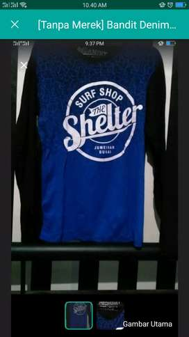 Kaos surf shelter biru