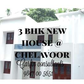 3bed new house at chelavoor
