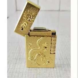 korek api karakter naga zippo gas design mewah gold iw