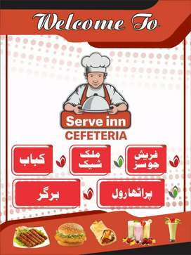 Need male and female waiter in cafetaria and pakistani cook