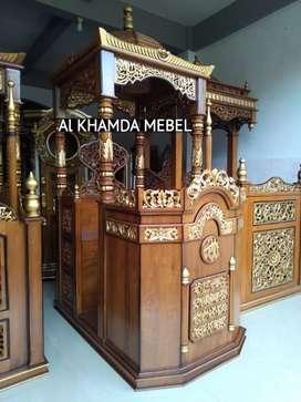 Ready Mimbar Masjid Material Kayu Jati Berkualitas @598