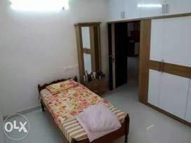 Single Bedroom with bathroom in furnished 3BHK upsc for Bachelors