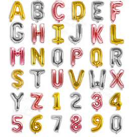 """Letter Balloons Custom Phrase 16"""" Inch Alphabet Letters & Numbers"""