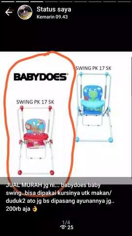 babydoes babyswing / kursi makan ayunan