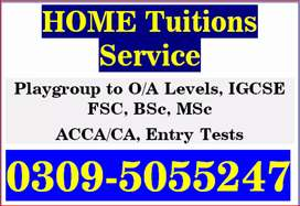 Home Tuitions available [ KG to 10th,FSc,O/A level,ACCA,IELTS,English