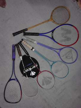 Imported Badminton,Tennis & Squash Rackets all made of chrome, carbon.