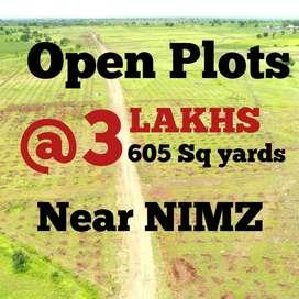 3 Lacs for 605 Sq Yds Open Plost for Sale Near NIMZ