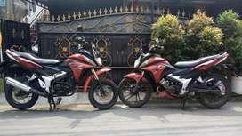 Jual 2 unit motor cs1 warna merah.