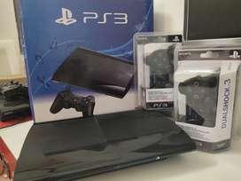 ps3 super slim 500gb 26 games brand new condition with bill warranty