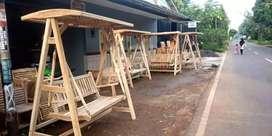 Kursi taman ayunan kayu jati kwalitas ecport