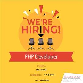 Urgent opening for PHP ,Drupal Developer in Bhiwadi, Rajasthan
