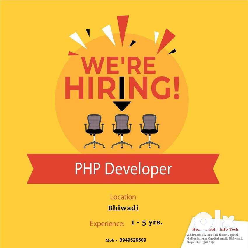 Urgent opening for PHP ,Drupal Developer in Bhiwadi, Rajasthan 0