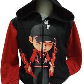 Jaket Boboiboy Halilintar Jacket Merah Anak