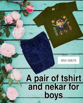 Pair of a tshirt and nekar for boys