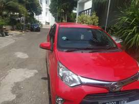 Dijual mobil calya 2017 merah