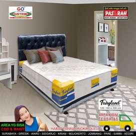 Spring Bed Komplit Sandaran Oscar Minimalis Murah Mewah Uk140