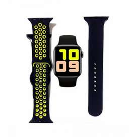 T500 Plus Smart Watch With Extra Strap Black
