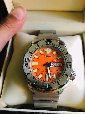 jam tangan seiko monster diver scuba 200m gen 1 orang dial original