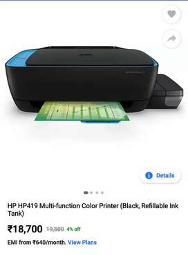 Urgent Sell of HP AIO 419 SMART Printer