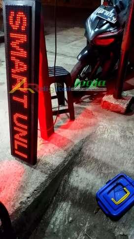 Running text watt rendah Lampu Hemat listrik Garansi 1 Tahun