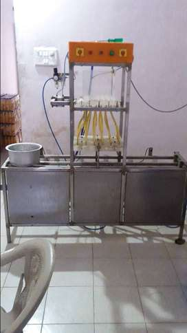 JUICE FILLING MACHINE WITH AIR COMPRESSOR
