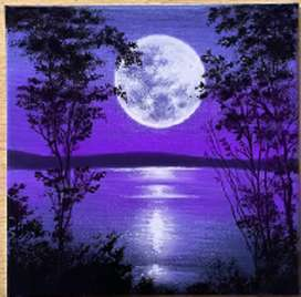 Beautiful Eve   Scenery oil painting