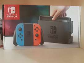Nintendo switch with multiple games and accessories