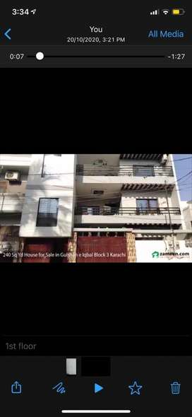 200 sq feet portion for sale in gulshan e iqbal near KDA market