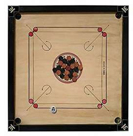 Carrom with complete carrom men set