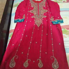 Beautiful red embroidered shirt