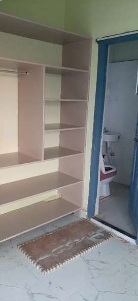 Rent for 1 bed  Room,kitchen and toilet for small family or bachelor.