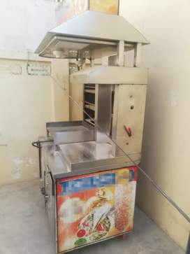 Shawarma machine full setup.