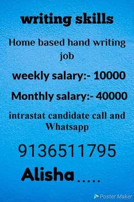 Hand writing home based job