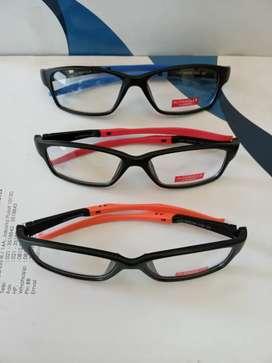 Kacamata sporty gratis lensa anti radiasi