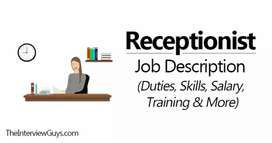 Require for female Front Desk Receptionist
