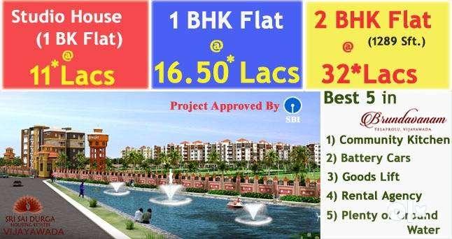 Gated Community 1 BHK & 2 BHK Flats for Sale,Sft.2,499/- in Gannavaram 0