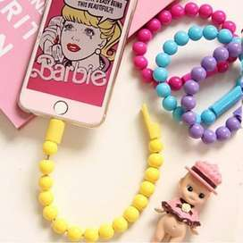 Kabel Data Gelang Iphone Candy Color/ Charger Cas iphone